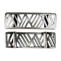 10mm flat GEOMETRIC MOUNTAINS Slider per 10 pieces ANTIQUE SILVER
