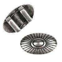 10mm flat SOUTHWEST SUNBURST slider ANTIQUE SILVER