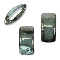 10mm flat GUNMETAL:TURQUOISE 10mm Wide Ceramic bead