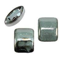 10mm flat GUNMETAL:TURQUOISE 15mm Wide Ceramic bead