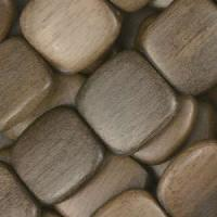 Graywood Bead Flat Square 16mm - strand