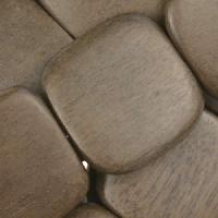 Graywood Bead Flat Square 25mm - strand
