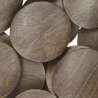 Graywood Bead Coin Twisted 25mm - strand