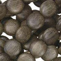 Graywood Bead Coin 12x5mm - strand
