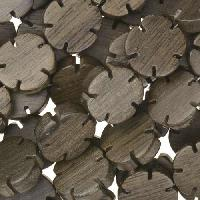 Graywood Bead Flower Shape 12mm - strand