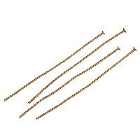 Head Pin 2 inch 20g (20) - Antique Brass