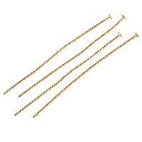 Head Pin 2 inch 20g (20) - Satin Hamilton Gold