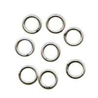 Soldered Ring 6mm 18g (40) - Antique Silver