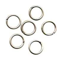 Jump Ring 8mm 18g (30) - Antique Silver