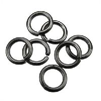 Jump Ring 8mm 18g (30) - Matte Gunmetal