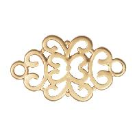 34mm Filigree Pendant / Link - Satin Hamilton Gold