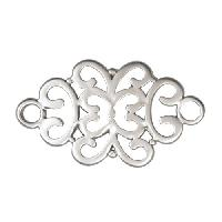 34mm Filigree Pendant / Link - Antique Silver