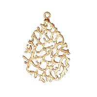 20mm Lacy Pendant - Satin Hamilton Gold