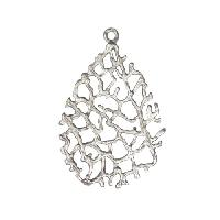 20mm Lacy Pendant - Antique Silver