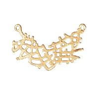 31mm Lacy Pendant / Link - Satin Hamilton Gold