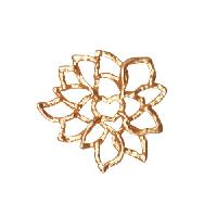 25mm Lacy Flower Pendant / Link - Satin Hamilton Gold