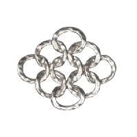 25mm Multi-Loop Pendant / Link - Antique Silver