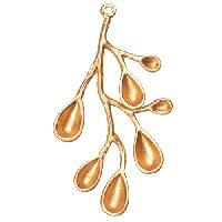 46mm Leafy Branch Pendant - Satin Hamilton Gold