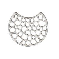 24mm Multi-Hole Pendant / Link - Antique Silver