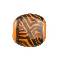 Kazuri MEZZO Pita Pat Derrick ll Ceramic Bead - Honey / Black