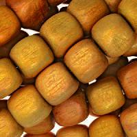 Jackfruit (Nangka) Wood Bead Cube 10mm - strand