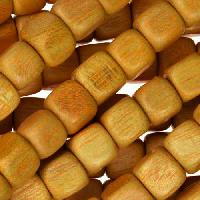 Jackfruit (Nangka) Wood Bead Cube 8mm - strand