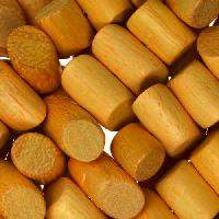 Jackfruit (Nangka) Wood Bead Tube Side Cut 8x15mm