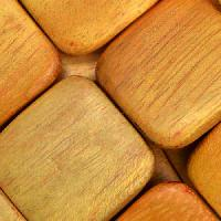 Jackfruit (Nangka) Wood Bead Flat Square 25mm - strand