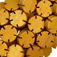 Jackfruit (Nangka) Wood Bead Flower 12x5mm