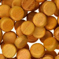 Jackfruit (Nangka) Wood Bead Coin 10x5mm