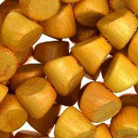 Jackfruit (Nangka) Wood Bead Double Side Cut 10mm - strand