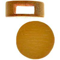 Jackfruit Wood Slide Large Hole Round Flat 20mm