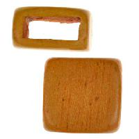 Jackfruit Wood Slide Large Hole Square Plain 15mm - piece