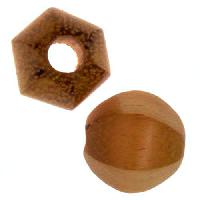 Jackfruit Wood Slide Large Hole Round Six-Sided 15mm - piece