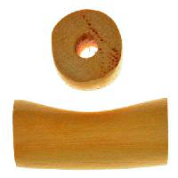Jackfruit Wood Slide Large Hole Tube Curved 30x15mm - piece