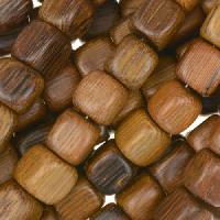 Robles Wood Bead Cube 8mm