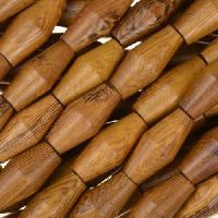 Robles Wood Bead Football 7x15mm - strand