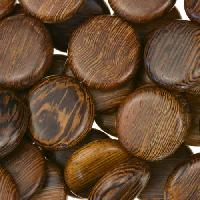Robles Wood Bead Coin 15mm