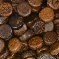 Robles Wood Bead Coin 10x5mm