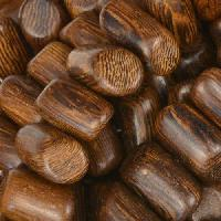 Robles Wood Bead Tube Side Cut 8x15mm