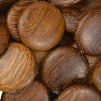 Robles Wood Bead Coin 20mm