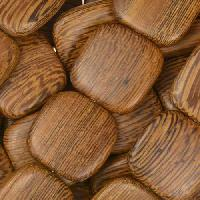 Robles Wood Bead Flat Square 16mm