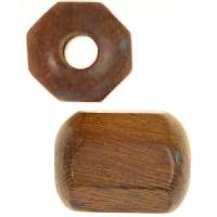 Robles Wood Slide Large Hole Tube Six-Sided 20x15mm - piece