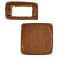 Robles Wood Slide Large Hole Square Plain 15mm - piece