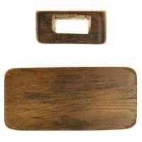 Robles Wood Slide Large Hole Rectangle 42x20mm - piece