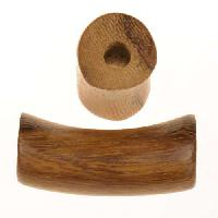 Robles Wood Slide Large Hole Tube Curved 30x15mm - piece