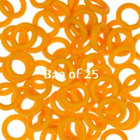 10mm Rubber O-Rings BAG of 25 - Buttercup