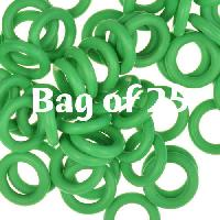 10mm Rubber O-Rings BAG of 25 - Grass Green