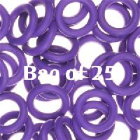 10mm Rubber O-Rings BAG of 25 - Grape