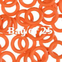 10mm Rubber O-Rings BAG of 25 - Orange